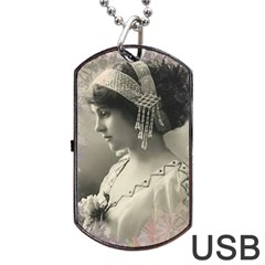 Vintage 1501540 1920 Dog Tag Usb Flash (two Sides)