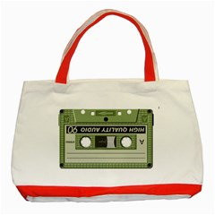 Cassette  Classic Tote Bag (red)