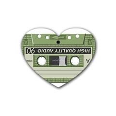 Cassette  Heart Coaster (4 Pack)