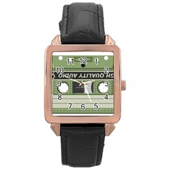 Cassette  Rose Gold Leather Watch