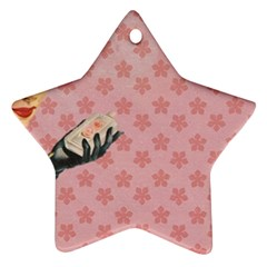 Vintage Lady Star Ornament (two Sides)