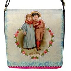 Kids Heart Flap Messenger Bag (s)