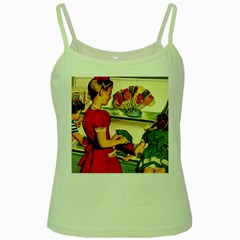 Retro Children Green Spaghetti Tank