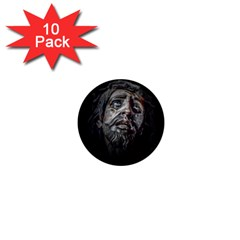 Jesuschrist Face Dark Poster 1  Mini Magnet (10 Pack)