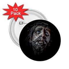 Jesuschrist Face Dark Poster 2 25  Buttons (10 Pack)