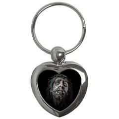 Jesuschrist Face Dark Poster Key Chains (heart)
