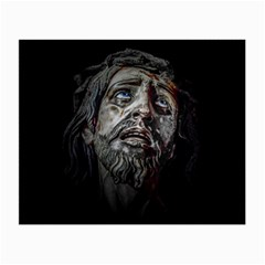 Jesuschrist Face Dark Poster Small Glasses Cloth (2 Side)