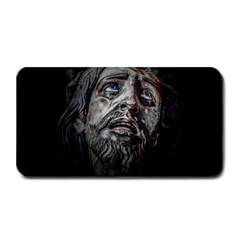 Jesuschrist Face Dark Poster Medium Bar Mats