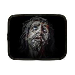 Jesuschrist Face Dark Poster Netbook Case (small)