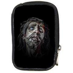 Jesuschrist Face Dark Poster Compact Camera Cases