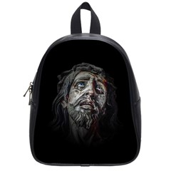 Jesuschrist Face Dark Poster School Bag (small)