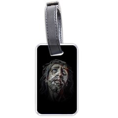 Jesuschrist Face Dark Poster Luggage Tags (one Side)