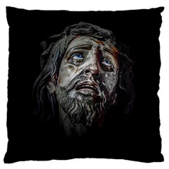 Jesuschrist Face Dark Poster Large Cushion Case (two Sides)