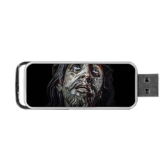 Jesuschrist Face Dark Poster Portable Usb Flash (one Side)