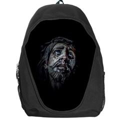 Jesuschrist Face Dark Poster Backpack Bag