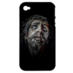 Jesuschrist Face Dark Poster Apple Iphone 4/4s Hardshell Case (pc+silicone)