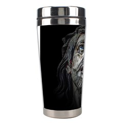 Jesuschrist Face Dark Poster Stainless Steel Travel Tumblers