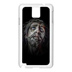 Jesuschrist Face Dark Poster Samsung Galaxy Note 3 N9005 Case (white)