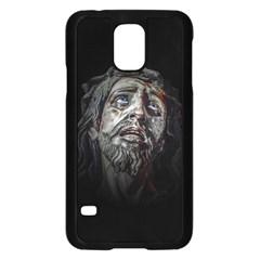 Jesuschrist Face Dark Poster Samsung Galaxy S5 Case (black)