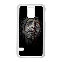 Jesuschrist Face Dark Poster Samsung Galaxy S5 Case (white)