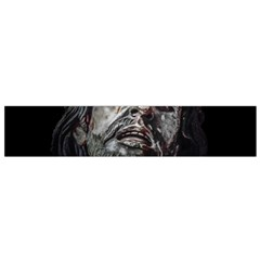 Jesuschrist Face Dark Poster Flano Scarf (small)