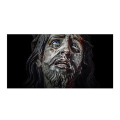 Jesuschrist Face Dark Poster Satin Wrap