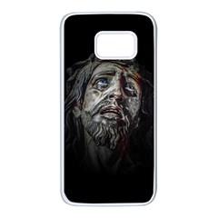 Jesuschrist Face Dark Poster Samsung Galaxy S7 White Seamless Case