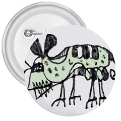 Monster Rat Pencil Drawing Illustration 3  Buttons