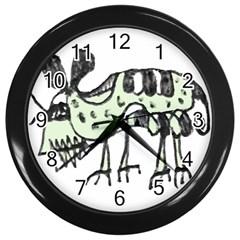 Monster Rat Pencil Drawing Illustration Wall Clocks (black)