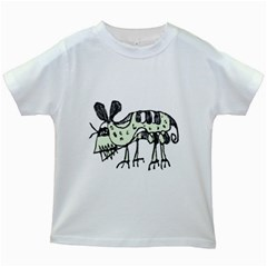 Monster Rat Pencil Drawing Illustration Kids White T Shirts