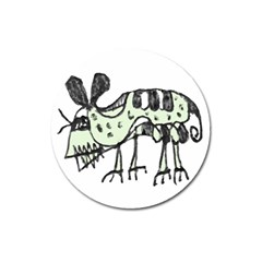 Monster Rat Pencil Drawing Illustration Magnet 3  (round)