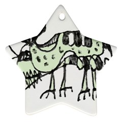 Monster Rat Pencil Drawing Illustration Star Ornament (two Sides)
