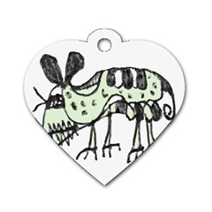 Monster Rat Pencil Drawing Illustration Dog Tag Heart (two Sides)