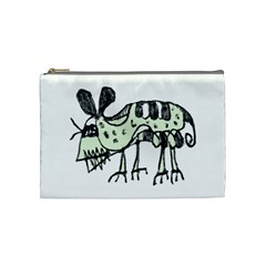 Monster Rat Pencil Drawing Illustration Cosmetic Bag (medium)
