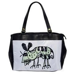 Monster Rat Pencil Drawing Illustration Office Handbags