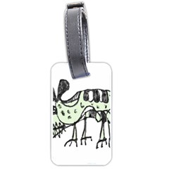 Monster Rat Pencil Drawing Illustration Luggage Tags (one Side)