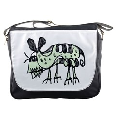 Monster Rat Pencil Drawing Illustration Messenger Bags