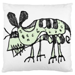 Monster Rat Pencil Drawing Illustration Large Cushion Case (two Sides)