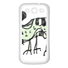 Monster Rat Pencil Drawing Illustration Samsung Galaxy S3 Back Case (white)