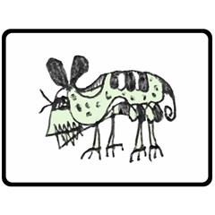 Monster Rat Pencil Drawing Illustration Double Sided Fleece Blanket (large)