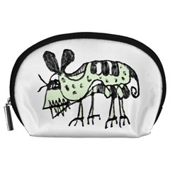 Monster Rat Pencil Drawing Illustration Accessory Pouches (large)