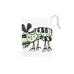Monster Rat Pencil Drawing Illustration Drawstring Pouches (xs)