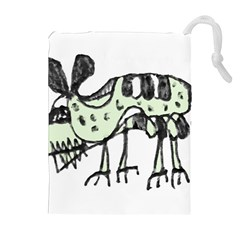 Monster Rat Pencil Drawing Illustration Drawstring Pouches (extra Large)