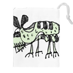 Monster Rat Pencil Drawing Illustration Drawstring Pouches (xxl)