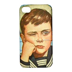 Retro Boy Apple Iphone 4/4s Hardshell Case With Stand