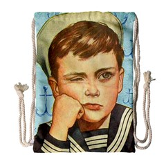 Retro Boy Drawstring Bag (large)