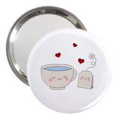 Cute Tea 3  Handbag Mirrors