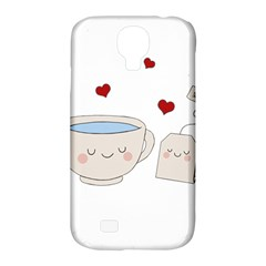 Cute Tea Samsung Galaxy S4 Classic Hardshell Case (pc+silicone)