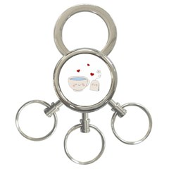 Cute Tea 3 Ring Key Chains