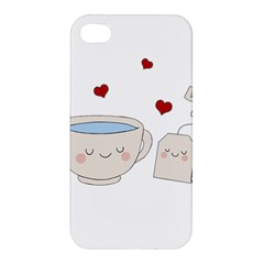 Cute Tea Apple Iphone 4/4s Hardshell Case